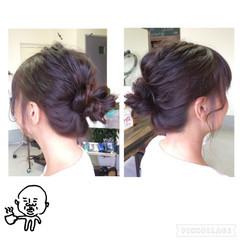 簡単ヘアアレンジ ルーズ ヘアアレンジ ショート ヘアスタイルや髪型の写真・画像