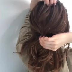 ナチュラル ヘアアレンジ セミロング 女子力 ヘアスタイルや髪型の写真・画像
