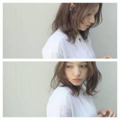 大人かわいい ミディアム ストリート ヘアスタイルや髪型の写真・画像