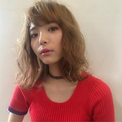 ハイライト アッシュ パーマ 外国人風 ヘアスタイルや髪型の写真・画像