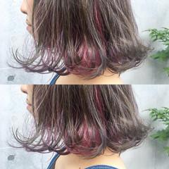 切りっぱなし ブリーチ ストリート ダブルカラー ヘアスタイルや髪型の写真・画像