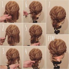 ヘアアレンジ ボブ ルーズ 簡単ヘアアレンジ ヘアスタイルや髪型の写真・画像