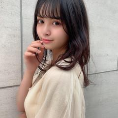 大人ミディアム ナチュラル 韓国ヘア ゆるふわパーマ ヘアスタイルや髪型の写真・画像