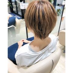 ショートヘア ボブ 似合わせカット ナチュラル ヘアスタイルや髪型の写真・画像