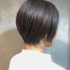 透明感カラー ショート ショートボブ ナチュラル ヘアスタイルや髪型の写真・画像