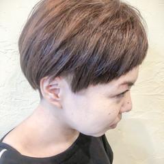 ボブ マッシュ ショート 前髪パッツン ヘアスタイルや髪型の写真・画像