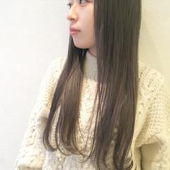 ハイライト ロング ナチュラル 暗髪 ヘアスタイルや髪型の写真・画像