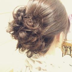 ヘアアレンジ 結婚式 ゆるふわ ナチュラル ヘアスタイルや髪型の写真・画像