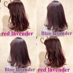 ラベンダー ロング ラベンダーアッシュ ストリート ヘアスタイルや髪型の写真・画像