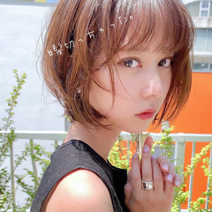 デート ナチュラル ヘアアレンジ ショート ヘアスタイルや髪型の写真・画像
