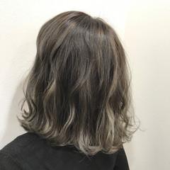 ボブ 外国人風 ハイライト フェミニン ヘアスタイルや髪型の写真・画像