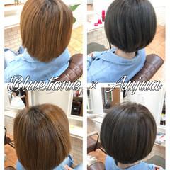 アッシュベージュ アッシュグレージュ ショート 外国人風カラー ヘアスタイルや髪型の写真・画像