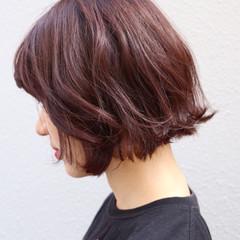 ショートボブ ストリート ボブ 大人女子 ヘアスタイルや髪型の写真・画像