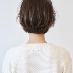 グラデーションカラー ショートボブ ショート グレージュ ヘアスタイルや髪型の写真・画像
