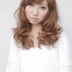 フェミニン モテ髪 卵型 ロング ヘアスタイルや髪型の写真・画像