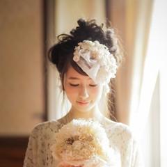 ゆるふわ ロング 結婚式 ヘアアレンジ ヘアスタイルや髪型の写真・画像