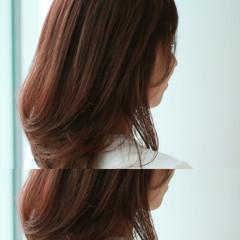 グラデーションカラー くせ毛風 暗髪 ロング ヘアスタイルや髪型の写真・画像