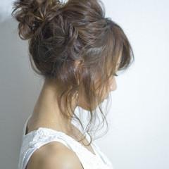ヘアアレンジ アッシュ 簡単ヘアアレンジ フェミニン ヘアスタイルや髪型の写真・画像