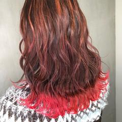 ガーリー 裾カラー アンニュイほつれヘア グラデーションカラー ヘアスタイルや髪型の写真・画像