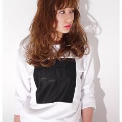 ストリート ウェーブ セミロング ウェットヘア ヘアスタイルや髪型の写真・画像