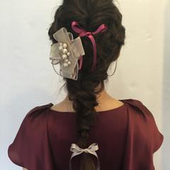 大人かわいい ロング ヘアアレンジ 編み込み ヘアスタイルや髪型の写真・画像