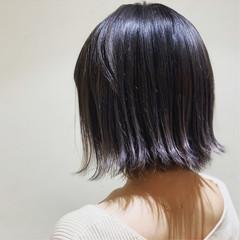 イルミナカラー パープルアッシュ ブリーチ 裾カラー ヘアスタイルや髪型の写真・画像