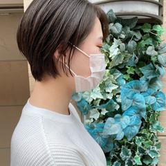 アッシュ ショートボブ ショートヘア 透明感カラー ヘアスタイルや髪型の写真・画像