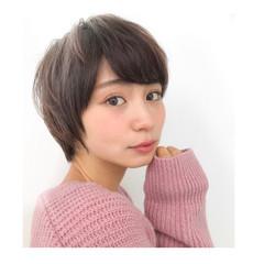 似合わせ フェミニン ショート 小顔 ヘアスタイルや髪型の写真・画像