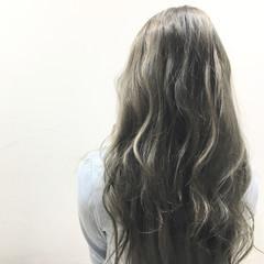 グラデーションカラー ロング 外国人風 ストリート ヘアスタイルや髪型の写真・画像