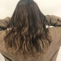 ナチュラル セミロング グラデーションカラー ハイライト ヘアスタイルや髪型の写真・画像