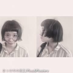ストリート ボブ ショート ストレート ヘアスタイルや髪型の写真・画像