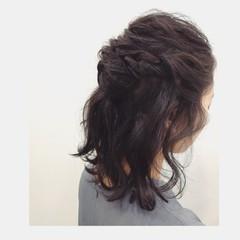 ヘアアレンジ 結婚式 簡単ヘアアレンジ 黒髪 ヘアスタイルや髪型の写真・画像