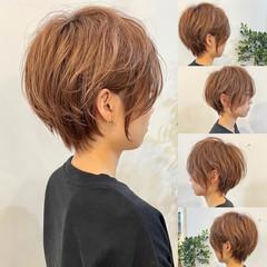 ナチュラル ショートヘア インナーカラー ベリーショート ヘアスタイルや髪型の写真・画像