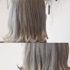 アッシュ グレージュ 外国人風カラー アッシュグレージュ ヘアスタイルや髪型の写真・画像
