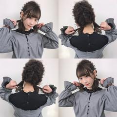 簡単ヘアアレンジ ヘアアレンジ デート フェミニン ヘアスタイルや髪型の写真・画像