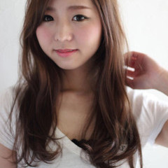 ゆるふわ 大人かわいい ロング フェミニン ヘアスタイルや髪型の写真・画像