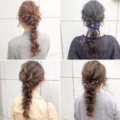 アンニュイほつれヘア 結婚式 ロング デート ヘアスタイルや髪型の写真・画像