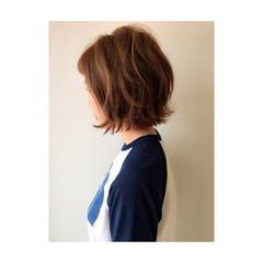 ショートボブ 外国人風 切りっぱなし 外ハネ ヘアスタイルや髪型の写真・画像