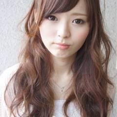 大人かわいい モテ髪 フェミニン セミロング ヘアスタイルや髪型の写真・画像