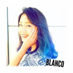 パープル グラデーションカラー 個性的 渋谷系 ヘアスタイルや髪型の写真・画像