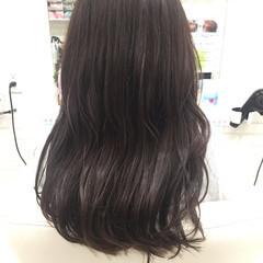 ホワイトアッシュ 外国人風カラー フェミニン セミロング ヘアスタイルや髪型の写真・画像