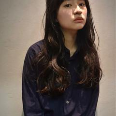 黒髪 ロング デート ナチュラル ヘアスタイルや髪型の写真・画像