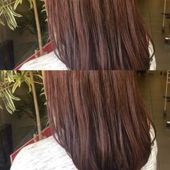 パーマ フェミニン ゆるふわ セミロング ヘアスタイルや髪型の写真・画像