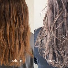バレイヤージュ エレガント 春ヘア 透明感カラー ヘアスタイルや髪型の写真・画像