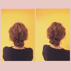 結婚式 シニヨン ナチュラル ヘアアレンジ ヘアスタイルや髪型の写真・画像