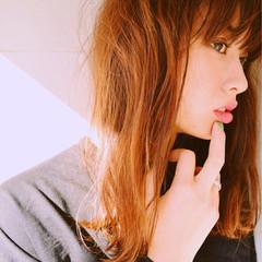 セミロング 外国人風 ストリート 冬 ヘアスタイルや髪型の写真・画像