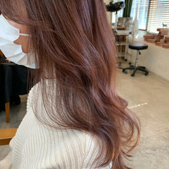 ゆるふわ ピンクベージュ ナチュラル ショコラブラウン ヘアスタイルや髪型の写真・画像