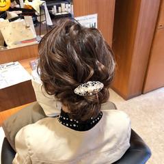 デート ヘアアレンジ セミロング ナチュラル ヘアスタイルや髪型の写真・画像