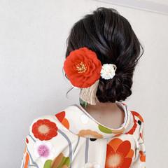 袴 着物 振袖ヘア ミディアム ヘアスタイルや髪型の写真・画像