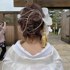 ナチュラル ロング 大人かわいい 結婚式 ヘアスタイルや髪型の写真・画像